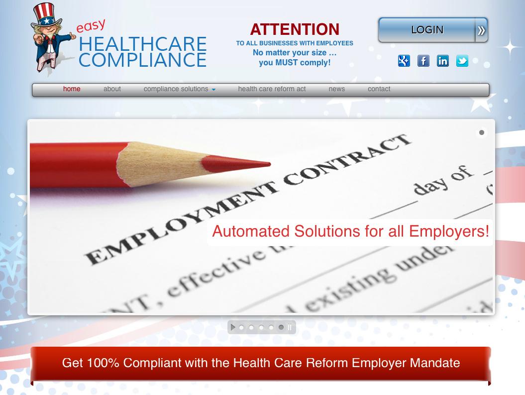 Easy Healthcare compliance custom design on WOrPress CMS